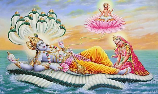 Lord Vishnu Goddess Lakshmi and Lord Brahma