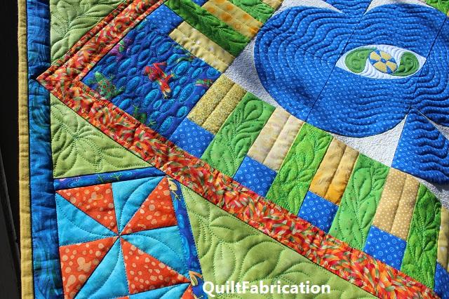 Fiesta Garden quilting closeup by QuiltFabrication