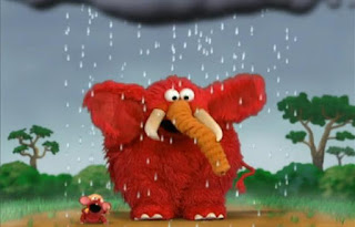 Elmo the Mouse and Elmo the Elephant sing Singing in the Shower. Sesame Street Elmo's World Bath Time Tickle Me Land
