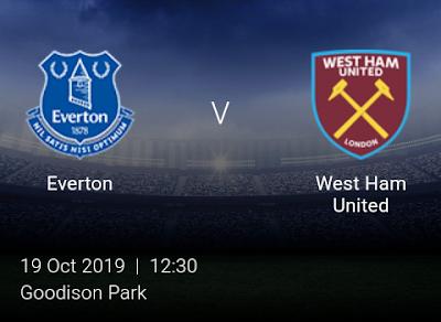 LIVE MATCH: Everton Vs West Ham United Premier League 19/10/2019