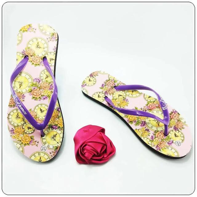 grosirsandalmurah.org-Sandal Wanita-AMX Motif Bunga Simplek Wanita