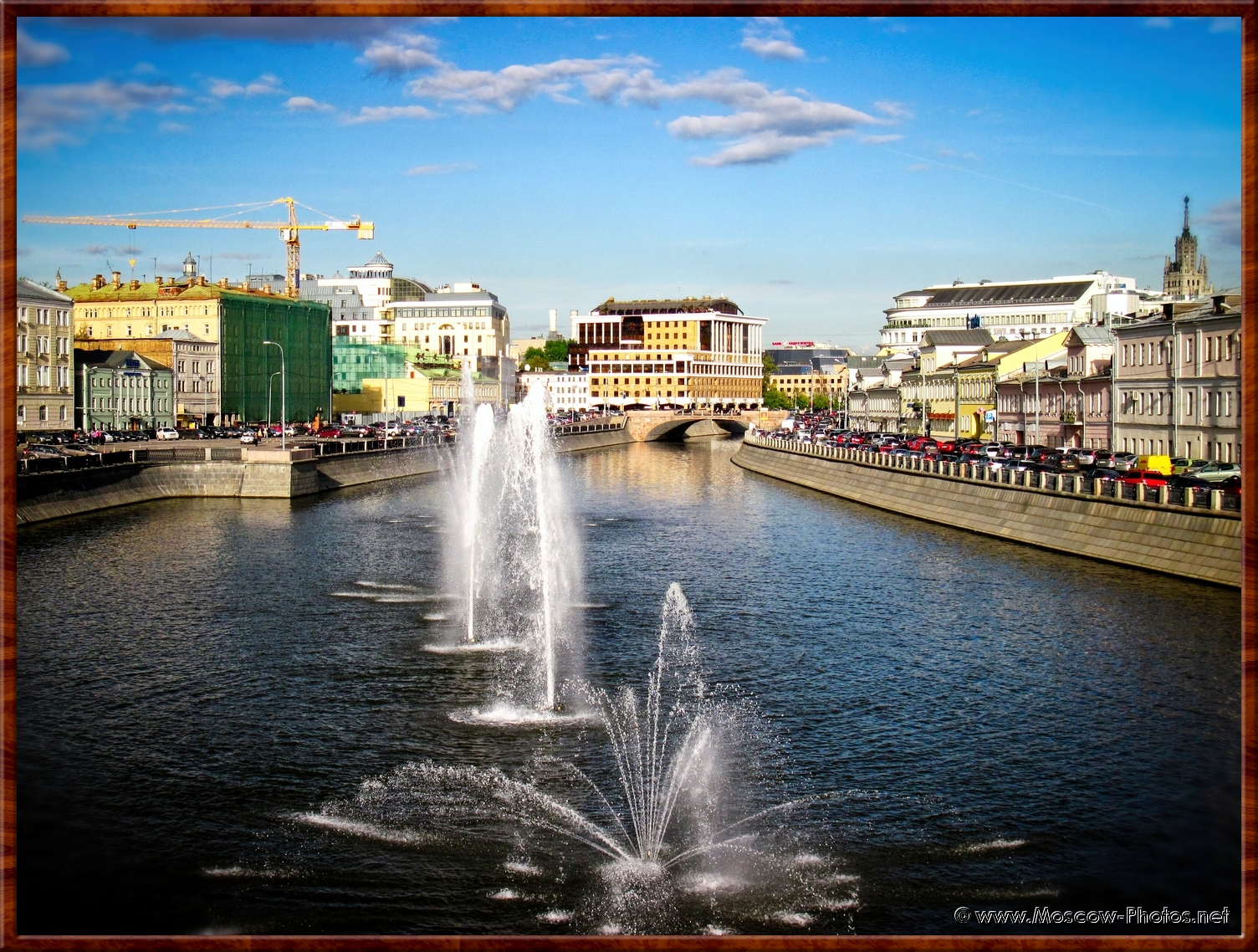 Summer view of the Obvodny canal in Moscow