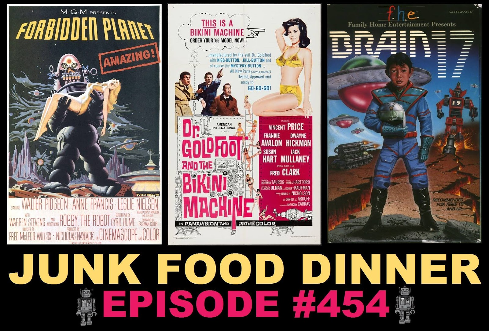 JFD454: Forbidden Planet, Dr  Goldfoot And Bikini Machine, Brain 17