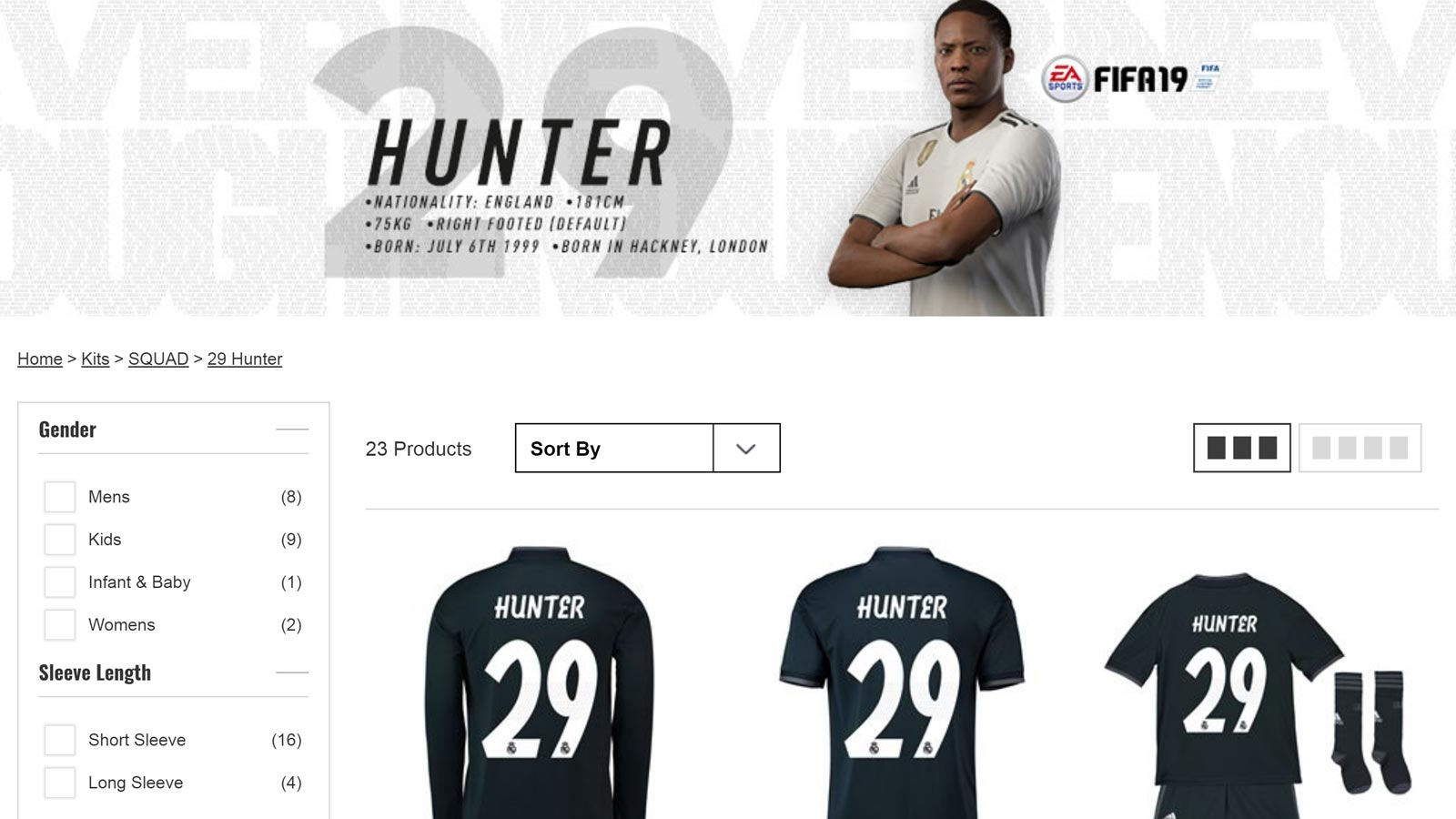 b8b17b690 World s Gone Mad ! Real Madrid Sell Alex Hunter Shirts at Up to €160 ...
