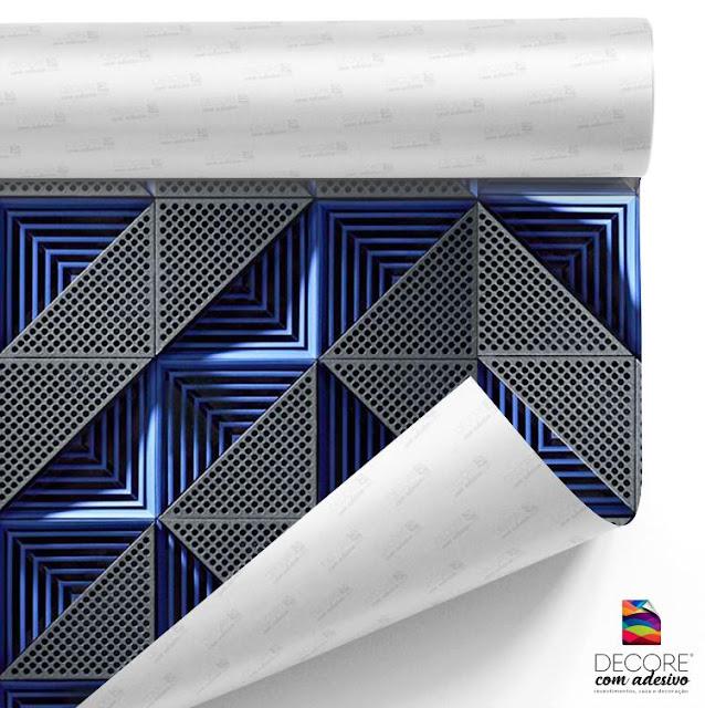 Papel de Parede Adesivo Rolo C/ 3metros Adesivo Moderno Geométrico - PP003