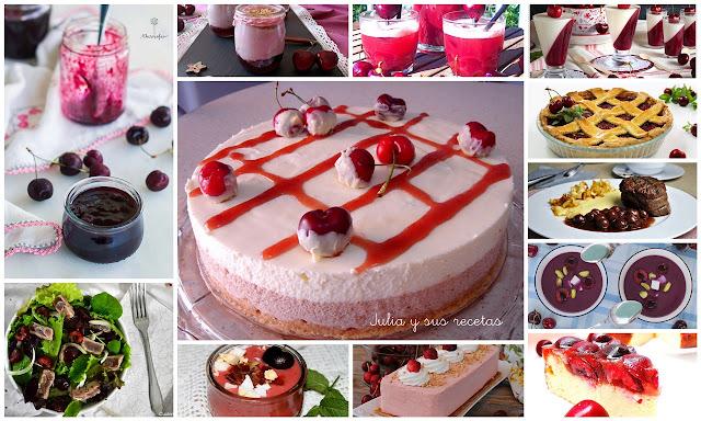 Recetas con cerezas dulces y saladas. Julia y sus recetas