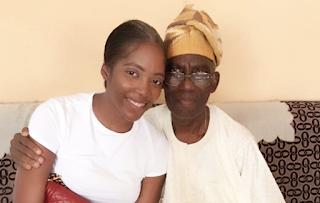 Tiwa Savage and her father