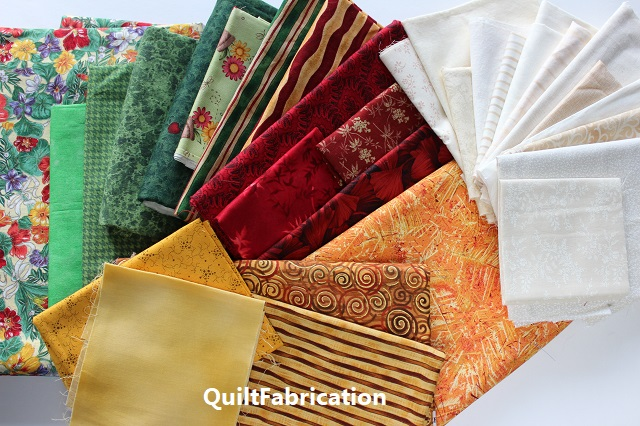 fabric choices for the Zen Garden quilt