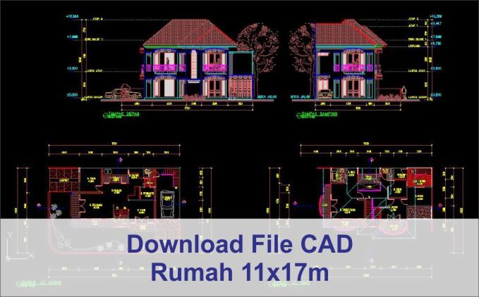 download rumah 11x17 File AutoCad
