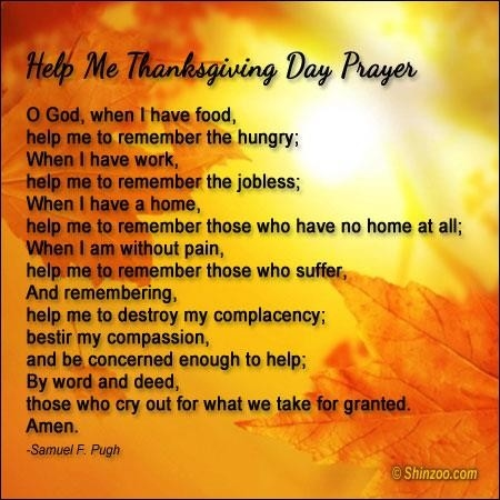 Happy Thanksgiving 2017 Prayers For Today