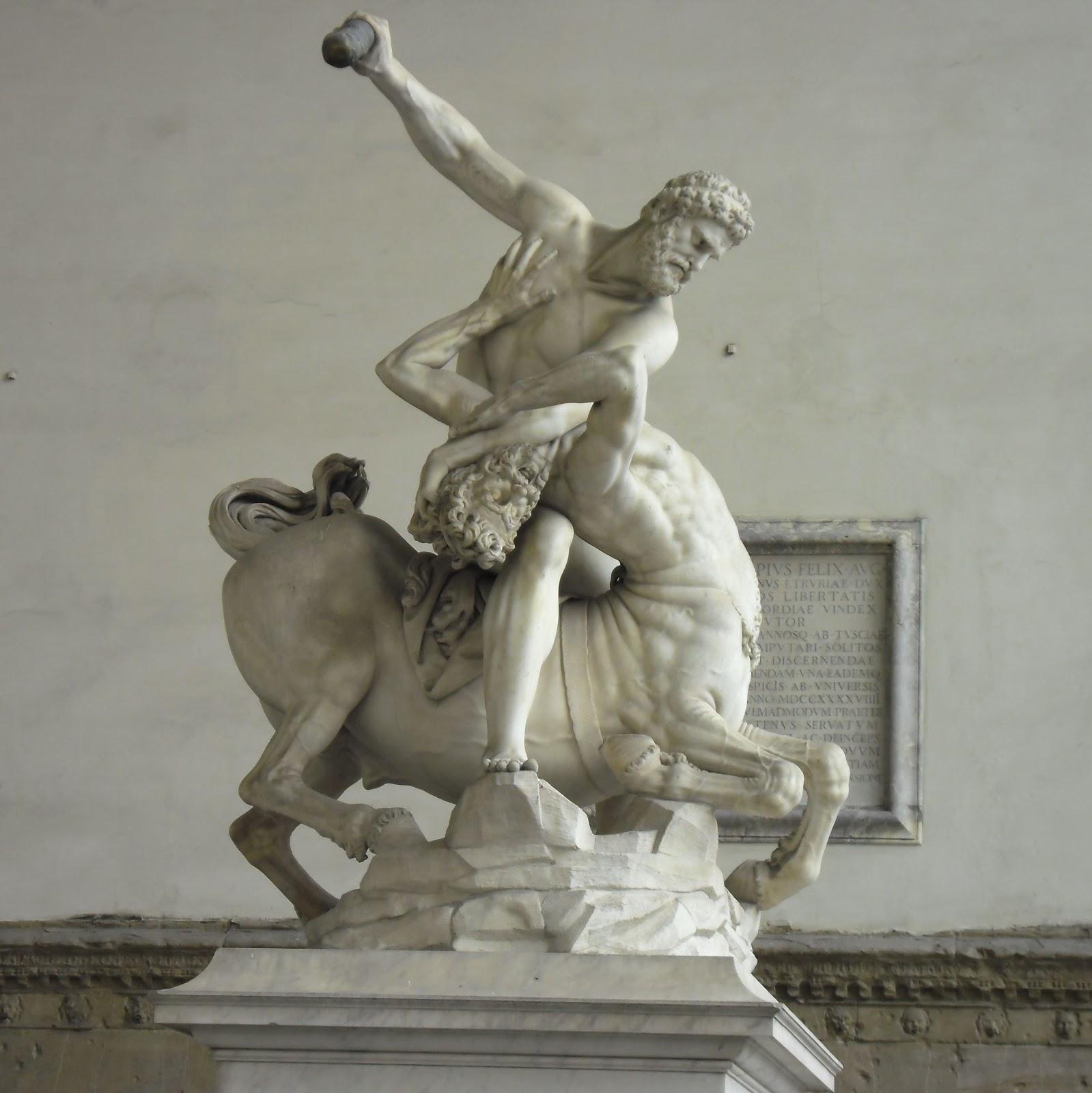 Giambologna ~ Hercules and the Centaur Nessus, 1599 | Loggia