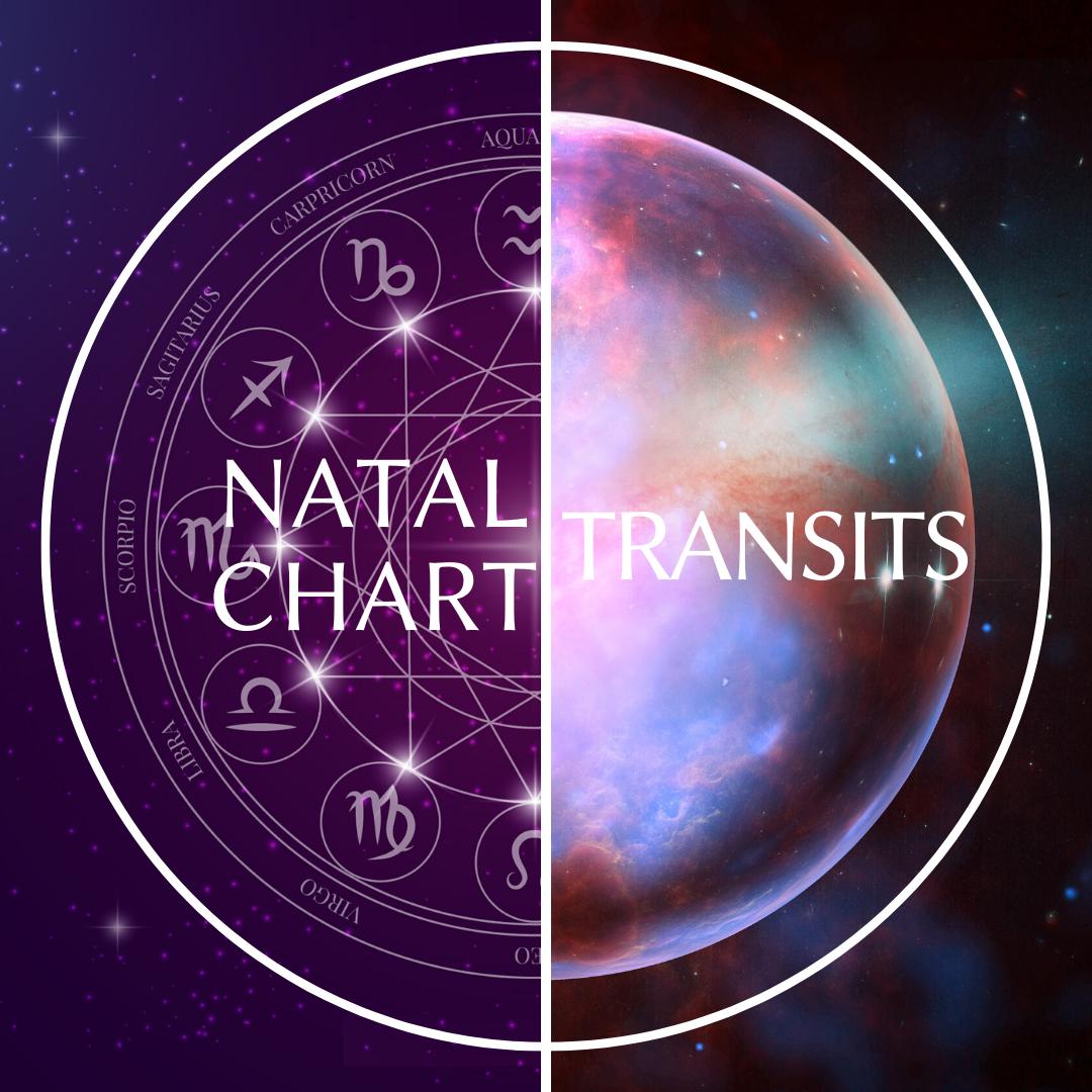 • Natal chart + Transits •
