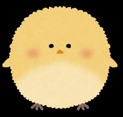 ふわふわの丸い鳥のイラスト