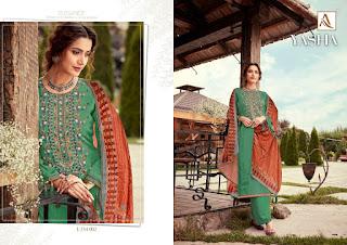 Alok Suits Yasha Pashmina Salwar Kameez Collection  At Diwan Fashion Surat