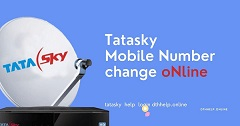 How to change registered number in Tata Sky Online?