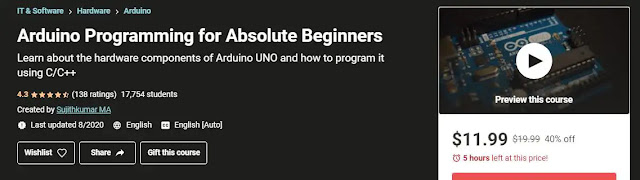 Arduino Programming For Absolute Beginners