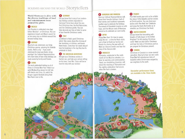 Epcot Holidays Around the World Guide Storytellers Map 2004