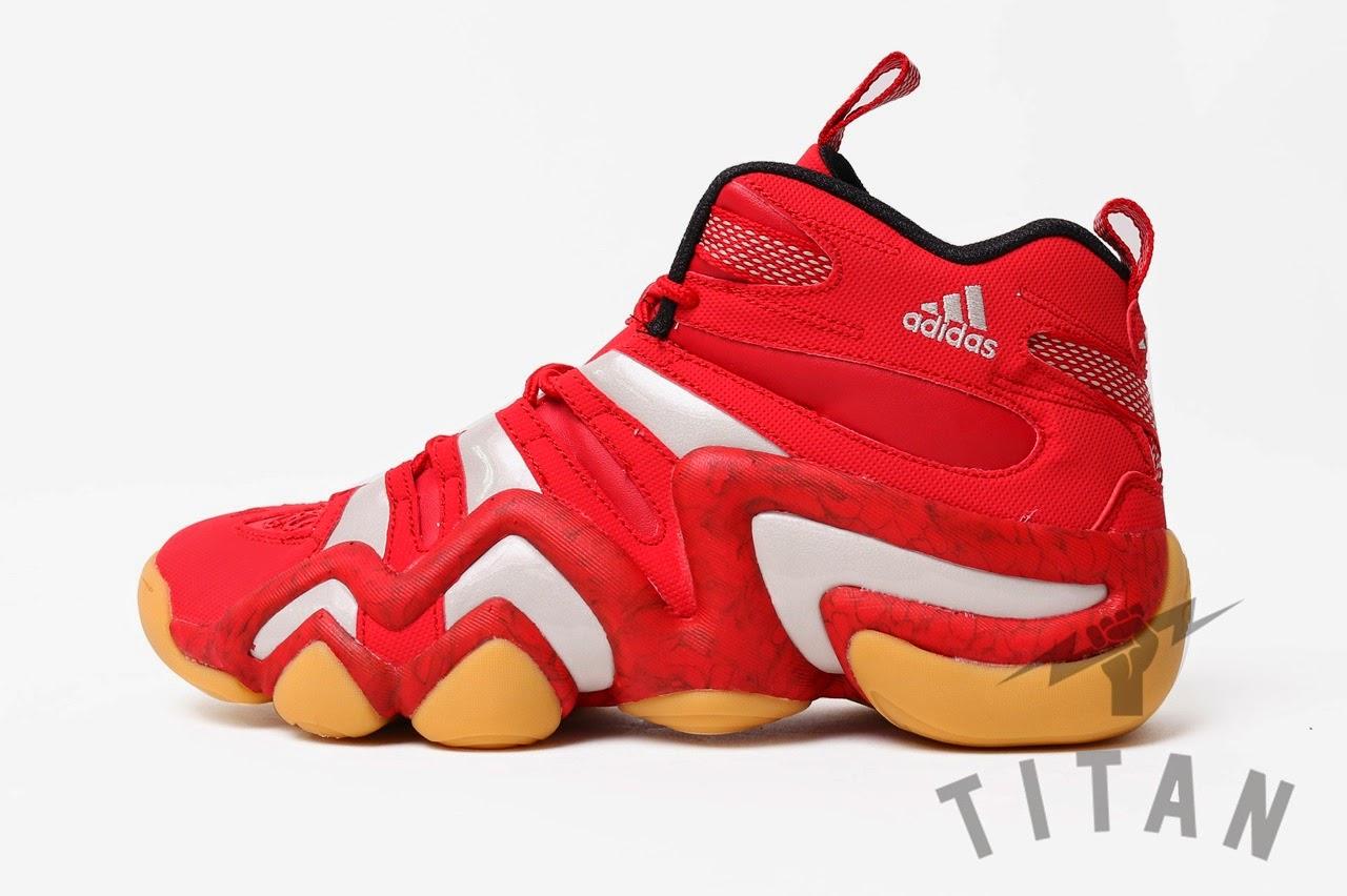0053783e5adf Adidas Crazy 8 Red Gum sole