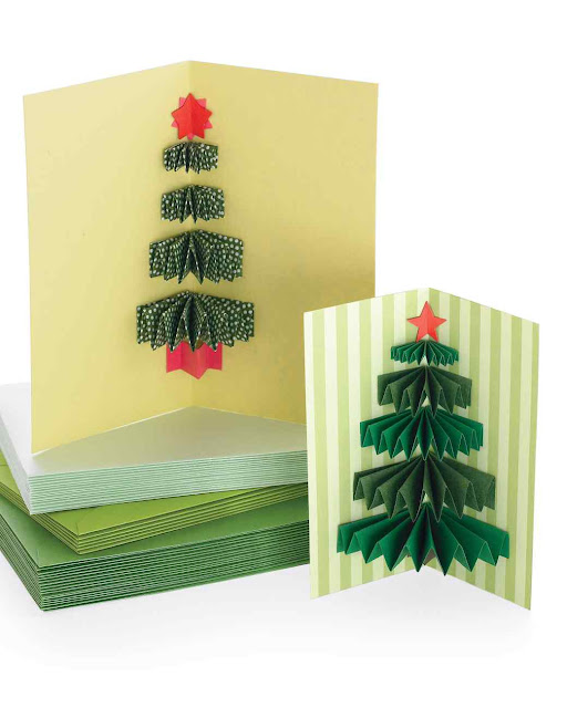 MINI CHRISTMAS TREE CRAFT for Kids - Pop up card | My Indian Version
