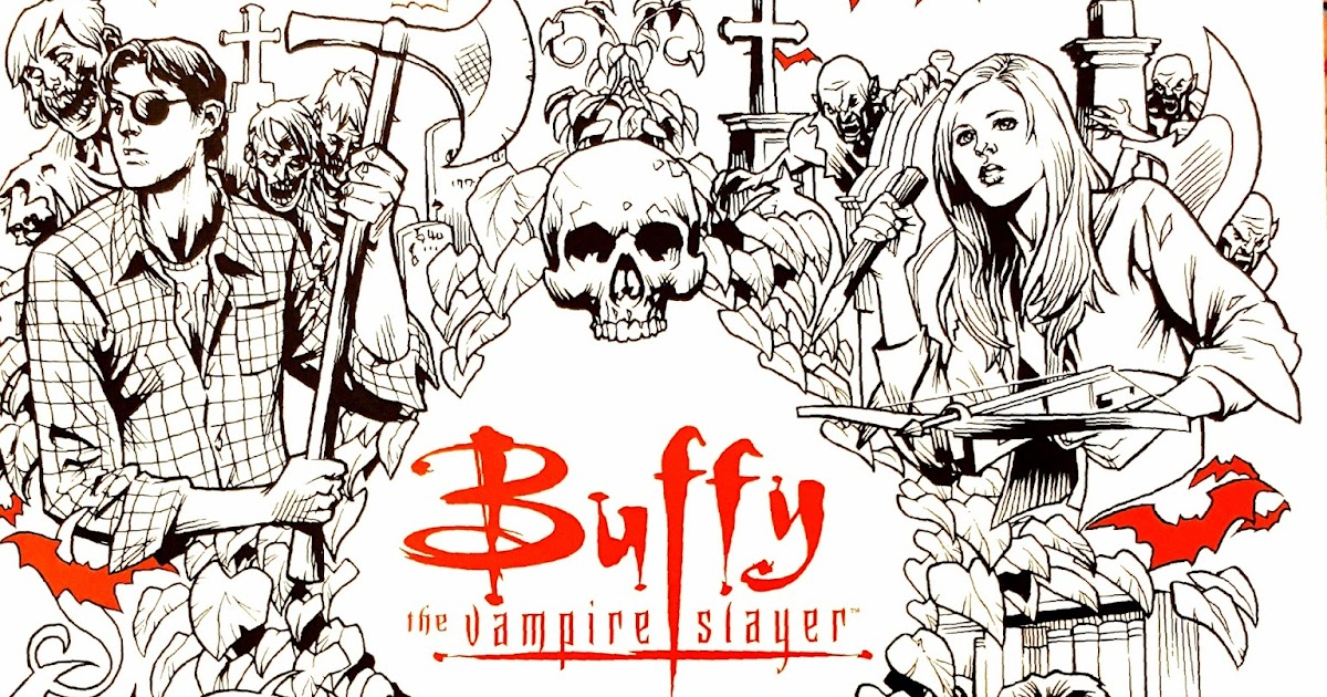 Disney at heart buffy the vampire slayer coloring book for Buffy coloring pages