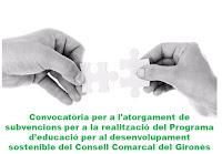 Convocatòria subvencions Programa Educació per al desenvolupament sostenible