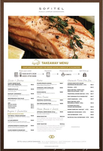 Sofitel Kuala Lumpur Damansara: Frozen Dim Sum menu