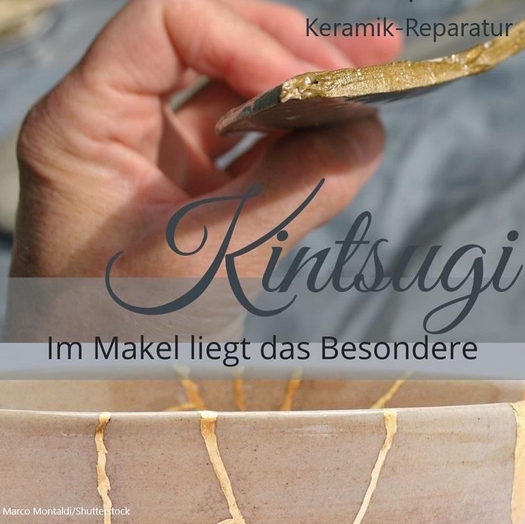 Zerbrochene Keramik in neuer Schönheit