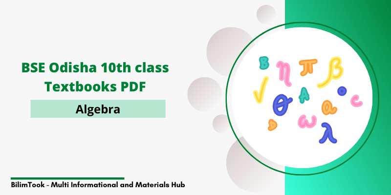BSE Odisha Class 10th Algebra Book PDF Download