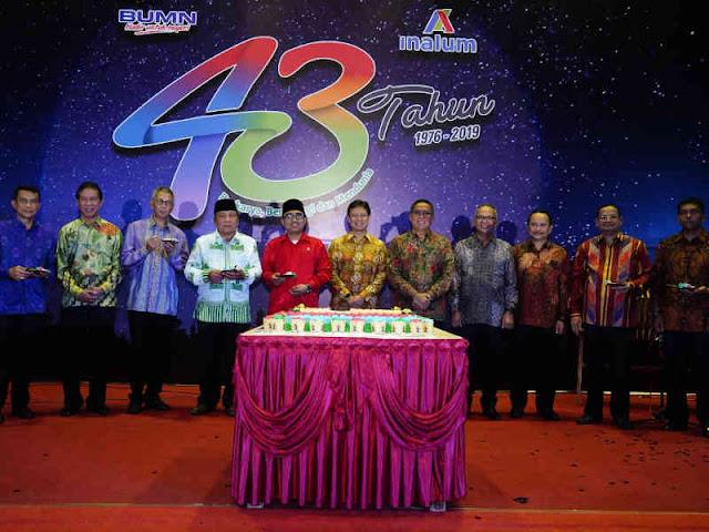 PT. Indonesia Asahan Aluminium (Inalum) Gelar Resepsi HUT ke-43