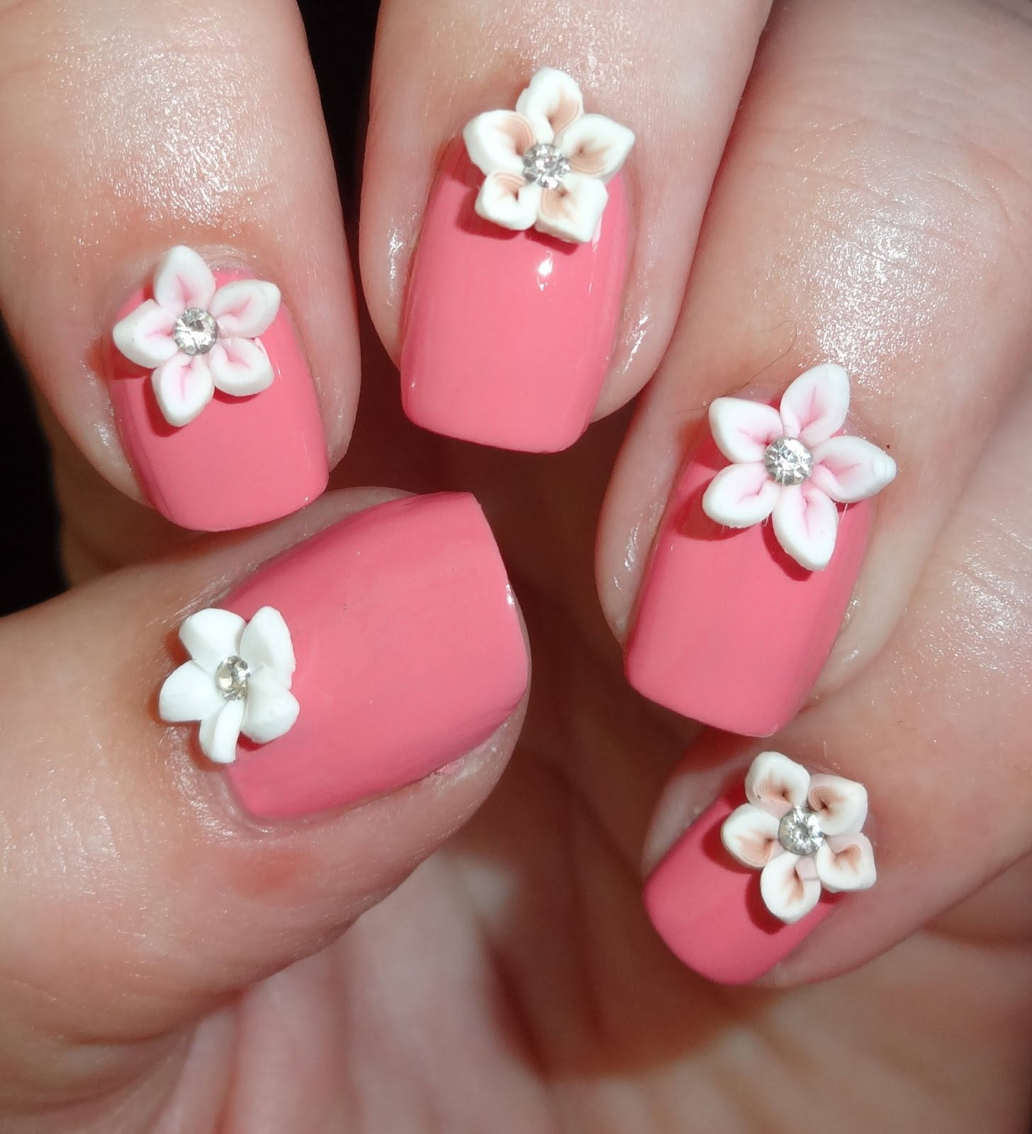 Flower Nail Art: Wendy's Delights: Tmart 12 Colors Fimo Flower With Diamond