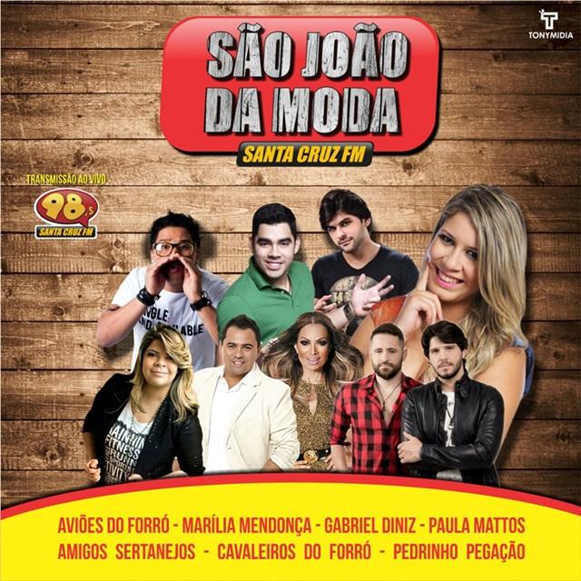 Rádio Santa Cruz FM fará transmissão do São João da Moda