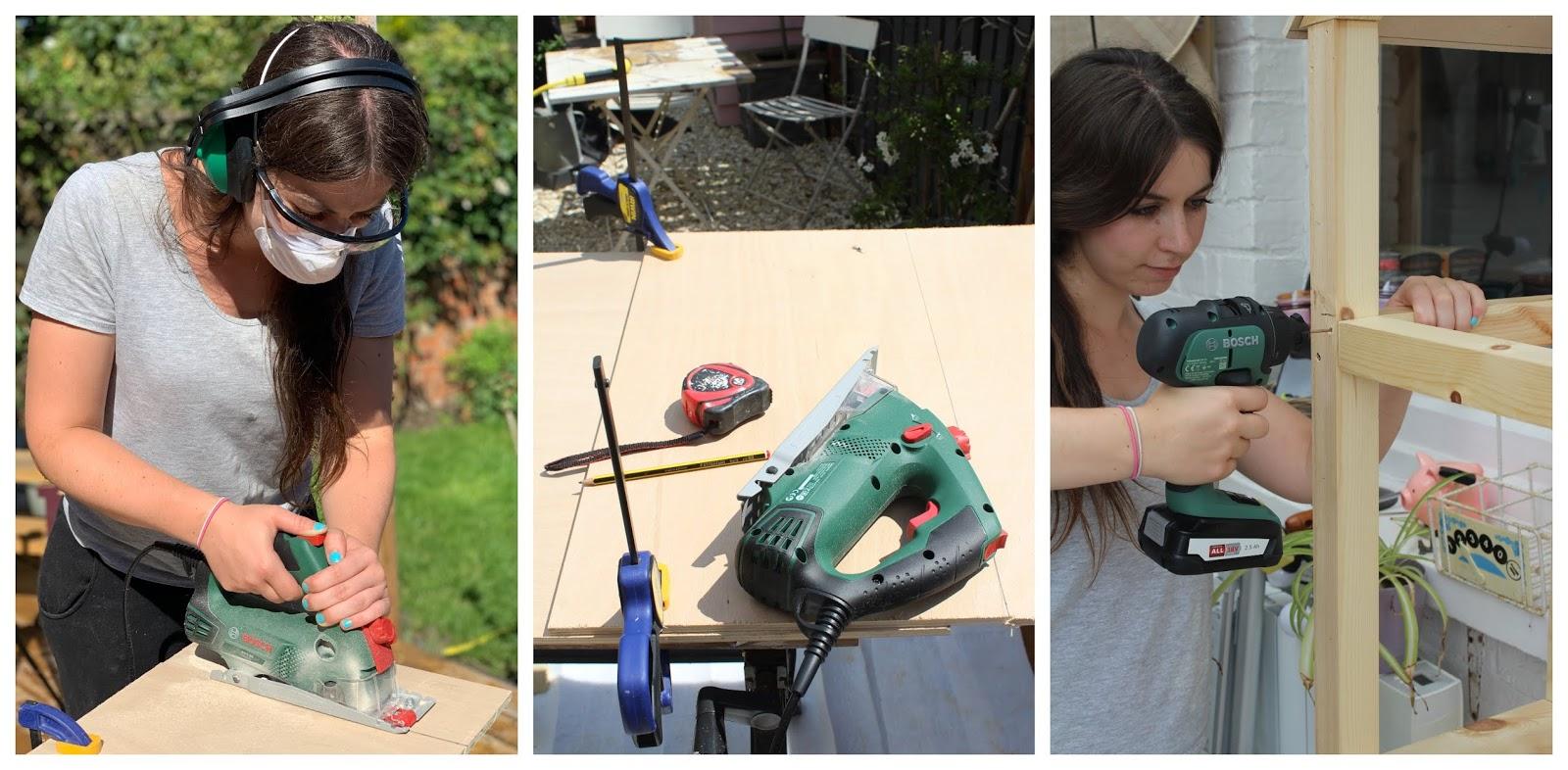 Bosch DIY tools in use