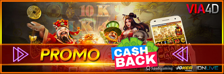 Via4D - Promo Cashback 2,5% s/d 10%