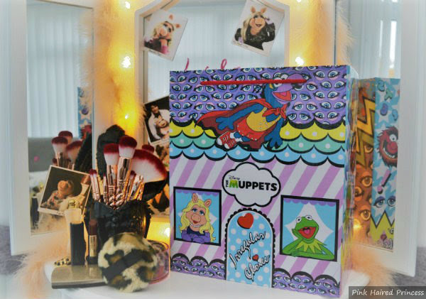 Irregular Choice Disney Muppets Shoe Box on dressing table with mirror and lights