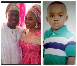Mercy Aigbe's husband, Lanre wishes son Happy birthday as he clocks 7 3