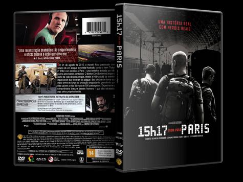 Capa DVD 15h17: Trem para Paris [Custom]