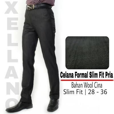 jual celana kerja pria slim fit murah, celana panjang pria slim fit the executive, harga celana slim fit pria