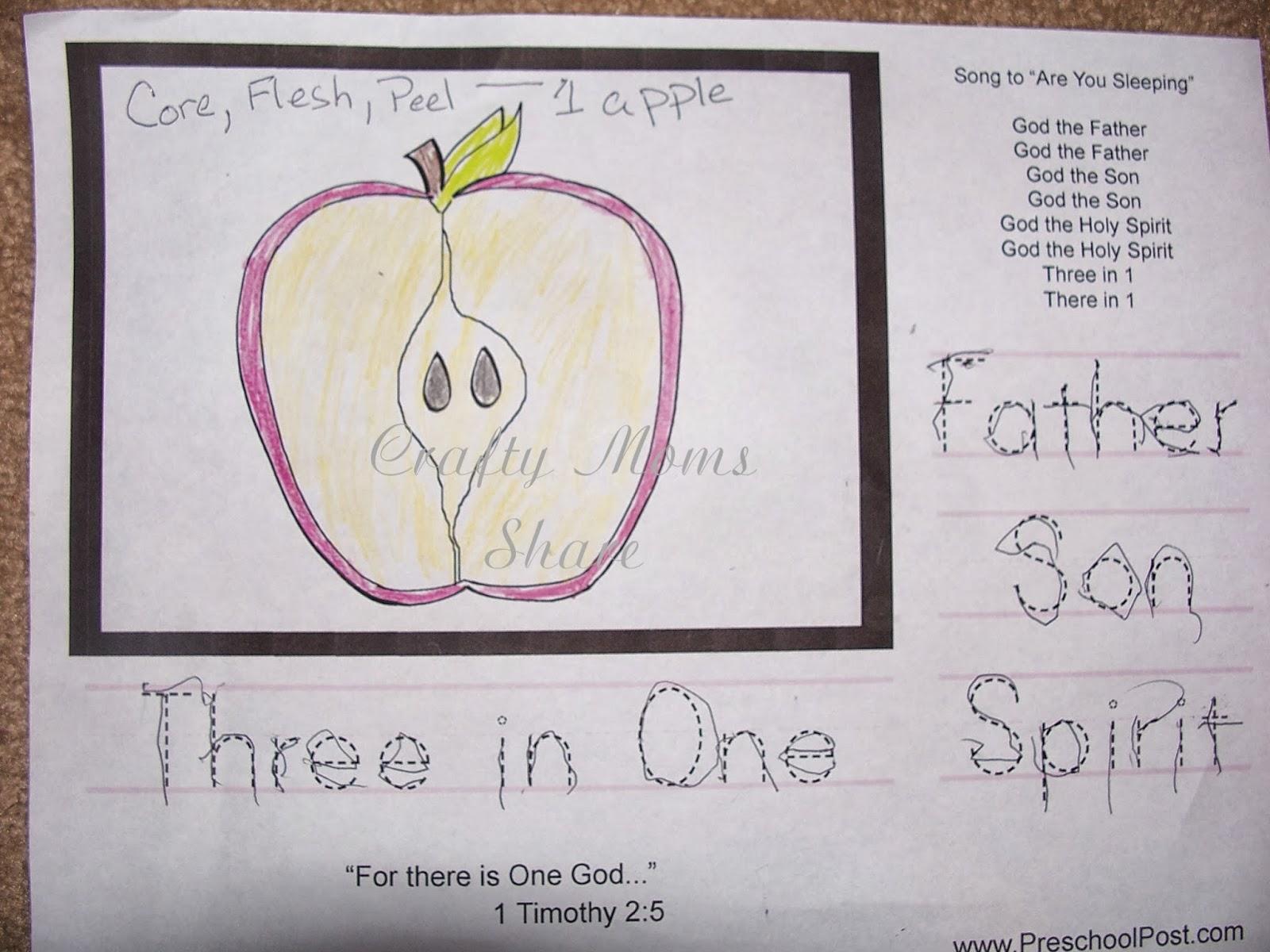 Crafty Moms Share Teaching The Trinity To A Preschooler