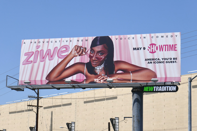 Ziwe series launch billboard