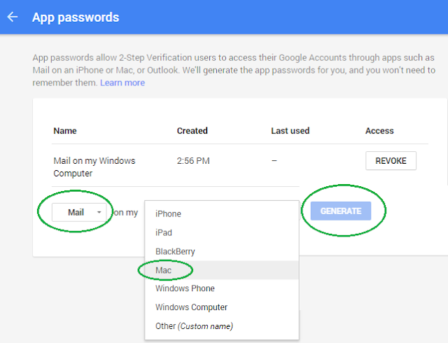 Generate App Password for Gmail