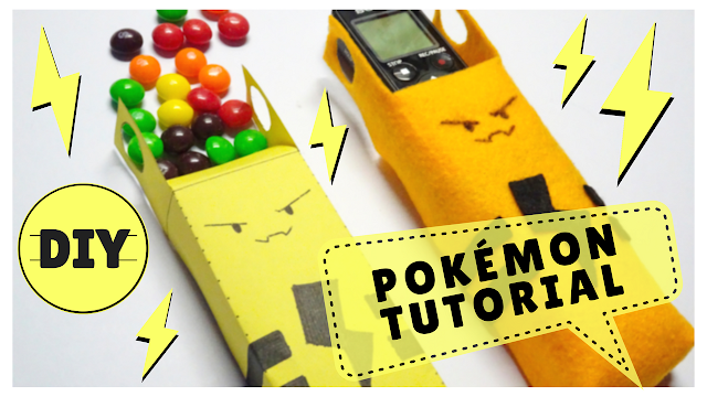 Koori Style, KooriStyle, Pokemon, Pokémon, DIY, Tutorial, Paper Box, Case, Felt, Elekid, Pokemon 239, Gift Box, Paper Craft, Manualidad, Printable, Template, Patron, Imprimible, Easy DIY, Cute, Kawaii, Paper, Candy