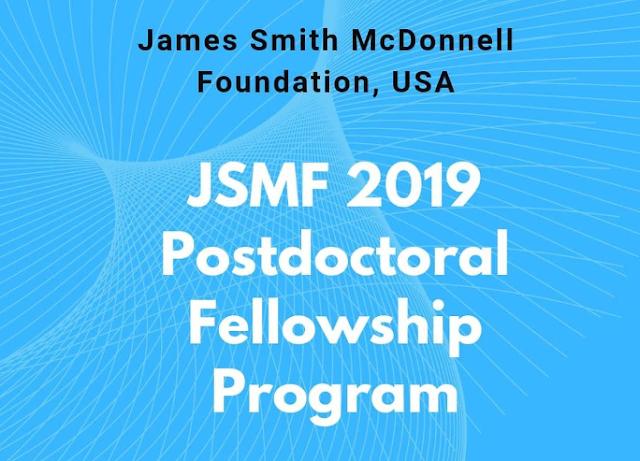 James S. McDonnell Foundation - Postdoctoral Fellowship Awards