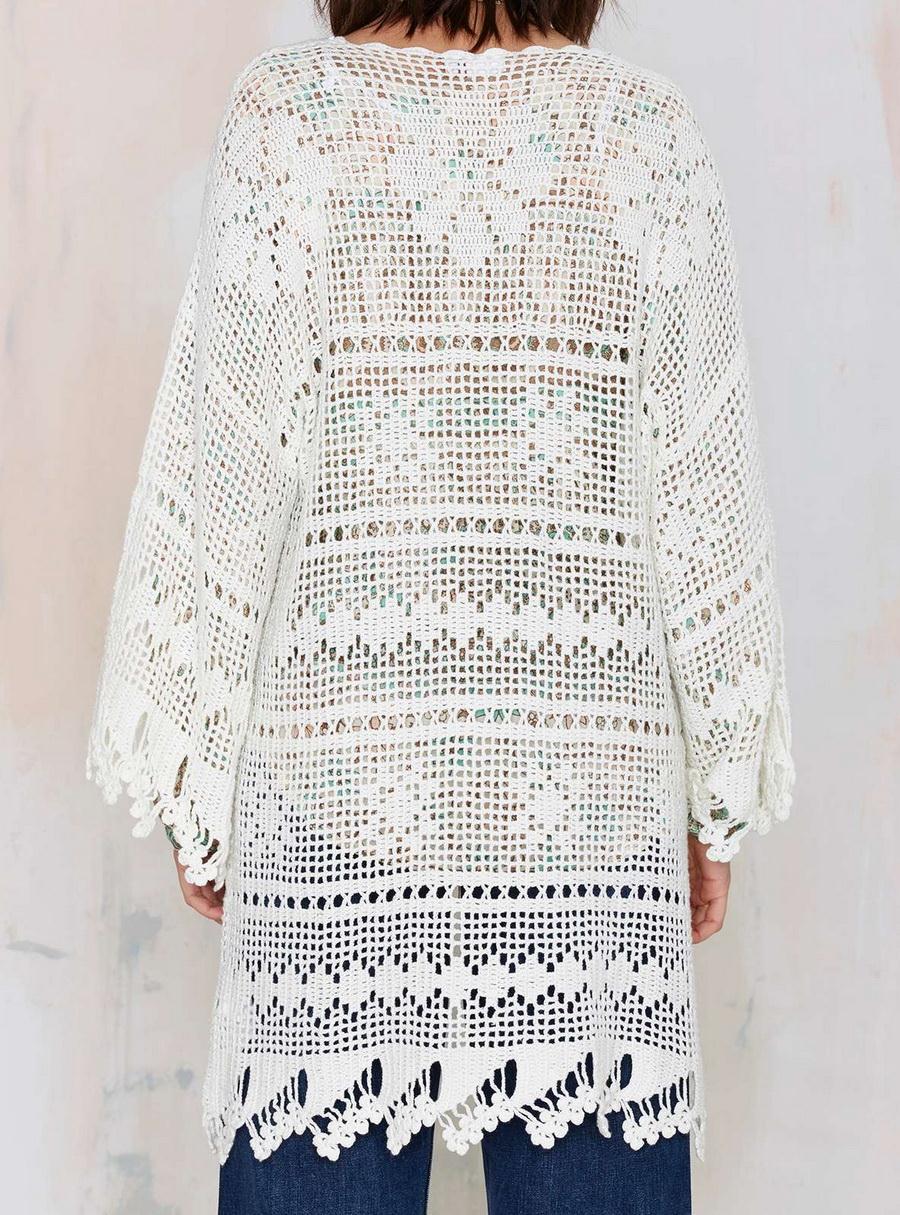 Crochet Kimono / Crochet Oversize Cardigan - Pattern - Wonderful