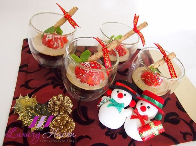 making christmas baileys coffee jelly desserts