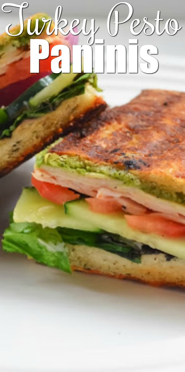 Turkey Pesto Panini Sandwiches