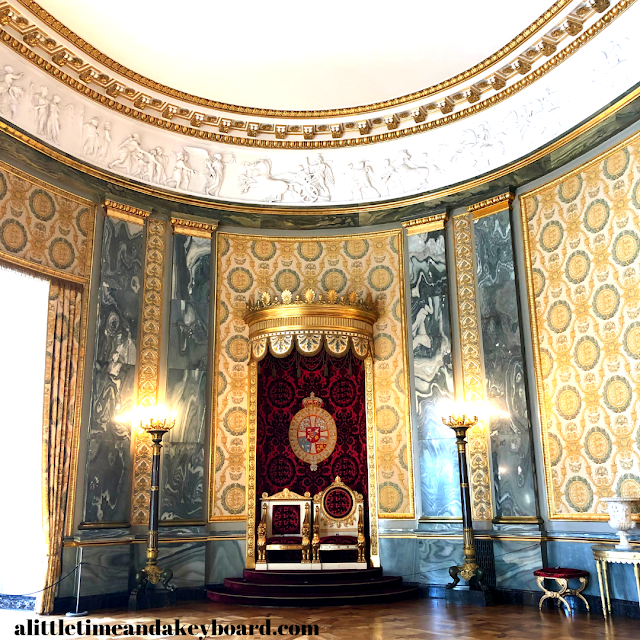 The Throne Room stuns immediately upon entry at Christiansborg