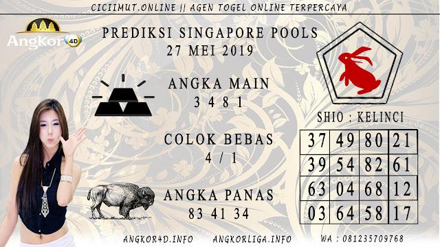 PREDIKSI SINGAPORE POOLS 27 MEI 2019
