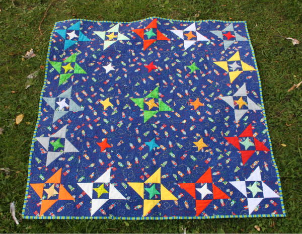 Friendship Galaxy Baby Quilt | DevotedQuilter.blogspot.com