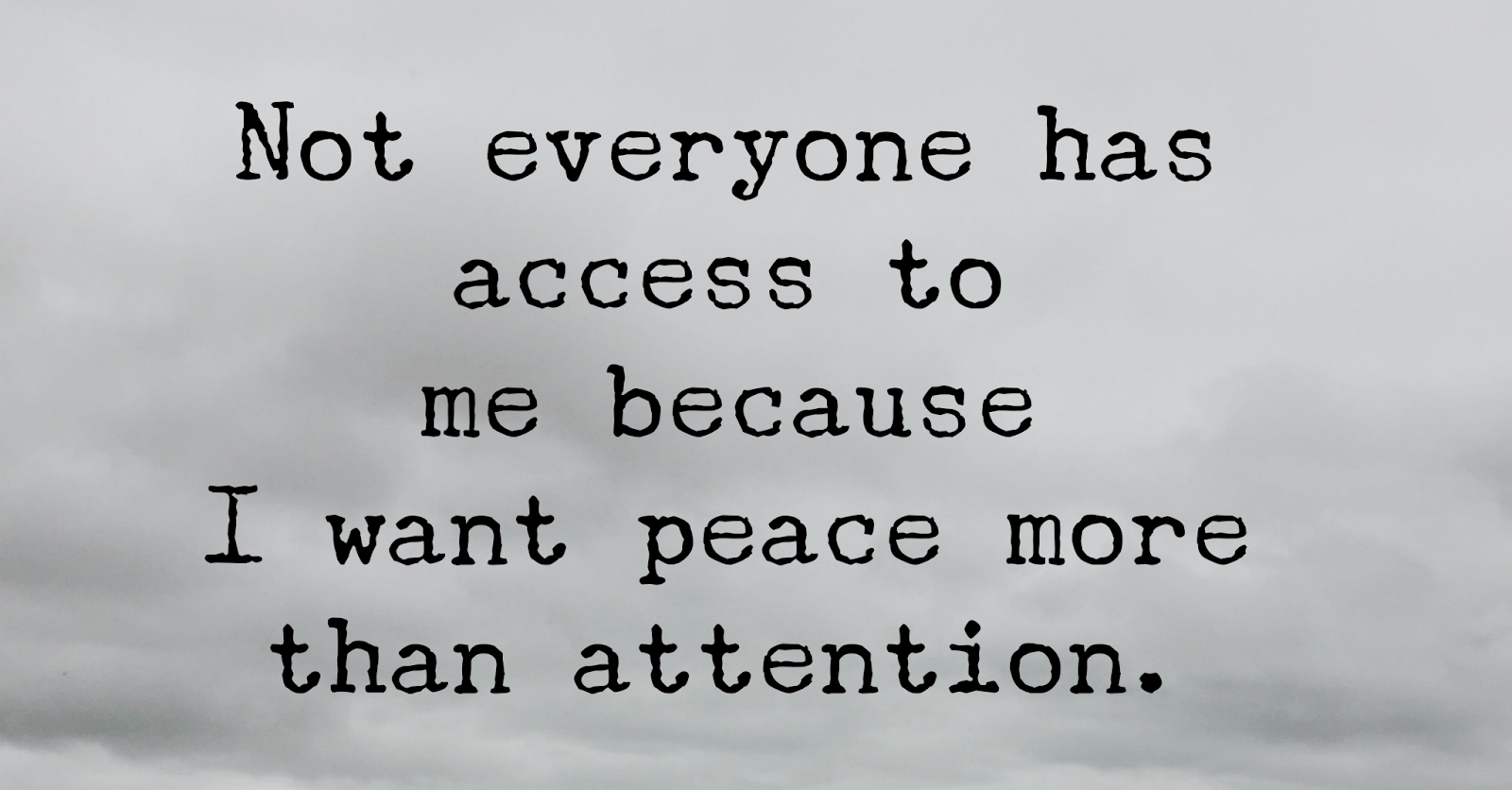 This Is Why Peace Is Much Better Than Attention