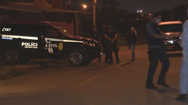 O DF registra pelo menos dois homicídios na madrugada deste domingo